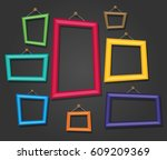 cartoon photo picture painting... | Shutterstock .eps vector #609209369