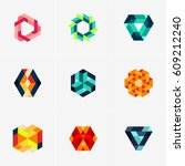 modern colorful abstract vector ... | Shutterstock .eps vector #609212240
