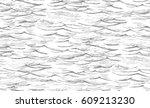 vector seamless abstract sketch ... | Shutterstock .eps vector #609213230