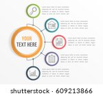 infographic template with five... | Shutterstock .eps vector #609213866