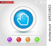 colored icon or button of hand... | Shutterstock .eps vector #609214823
