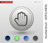 colored icon or button of hand... | Shutterstock .eps vector #609214856