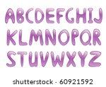 violet glossy alphabet. vector... | Shutterstock .eps vector #60921592
