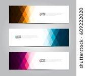 vector design banner background. | Shutterstock .eps vector #609222020