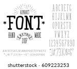 font handmade   modular and... | Shutterstock .eps vector #609223253