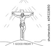 good friday | Shutterstock .eps vector #609223850