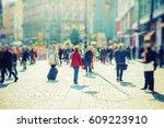 Crowd Of People Walking On...