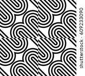 seamless geometric pattern with ... | Shutterstock .eps vector #609233090