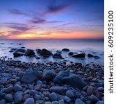Coastal Sunset  Rocky Coastlin...