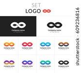 infinity logo abstract vector... | Shutterstock .eps vector #609236816