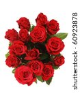 Stock photo bunch of red roses on white 60923878