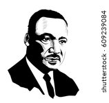martin luther king. black and... | Shutterstock .eps vector #609239084