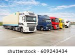 truck  transportation  freight... | Shutterstock . vector #609243434