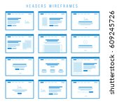 wireframe components to build... | Shutterstock .eps vector #609245726