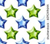 Diamonds Stars Seamless Patter...