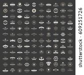 vintage logos design templates... | Shutterstock .eps vector #609251726
