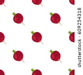 beet seamless pattern. natural... | Shutterstock .eps vector #609254318