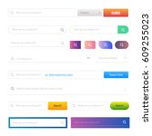 web design buttons elements. ui ...