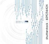 vector circuit board... | Shutterstock .eps vector #609256424