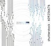 vector circuit board...   Shutterstock .eps vector #609256676
