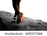 woman running exercise active... | Shutterstock . vector #609257288