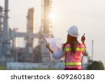 asian women worker and... | Shutterstock . vector #609260180