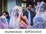 valencia  spain   march 16 ... | Shutterstock . vector #609261410