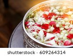 Stock photo jasmine and roses in blow songkran festival in thailand 609264314