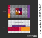 business card with square tile... | Shutterstock .eps vector #609264440
