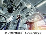 equipment  cables and piping as ... | Shutterstock . vector #609270998
