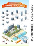build your own isometric city . ... | Shutterstock .eps vector #609271880