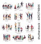 vector illustration of teamwork ... | Shutterstock .eps vector #609274844