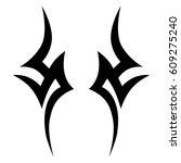 tribal tattoo art designs.... | Shutterstock .eps vector #609275240