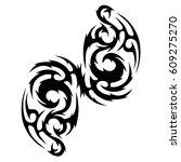 tattoo sketch tribal vector... | Shutterstock .eps vector #609275270