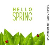 spring background with green... | Shutterstock .eps vector #609275498
