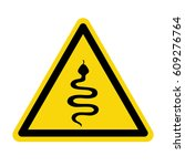 warning sign beware snake ... | Shutterstock .eps vector #609276764