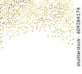gold glitter background polka...   Shutterstock .eps vector #609284174
