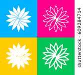 flower sign. four styles of...