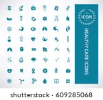 health care icon set clean... | Shutterstock .eps vector #609285068