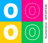 letter o sign design template... | Shutterstock .eps vector #609285338