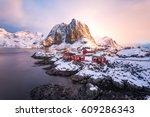 hamnoy  lofoten islands  norway....   Shutterstock . vector #609286343