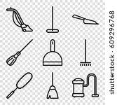 dust icons set. set of 9 dust... | Shutterstock .eps vector #609296768