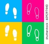 imprint soles shoes sign. four...