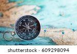 Compass On Map.
