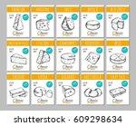 cheese. vector hand drawn... | Shutterstock .eps vector #609298634