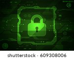 protection concept. protect... | Shutterstock .eps vector #609308006