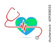 world health day. vector... | Shutterstock .eps vector #609308033