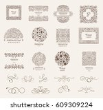 collection of design elements... | Shutterstock .eps vector #609309224