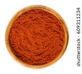 sweet pepper red paprika powder ... | Shutterstock . vector #609311234