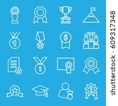 achievement icons set. set of... | Shutterstock .eps vector #609317348